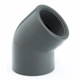 PVC-U 45 Degree Elbow Plain to Threaded Imperial / Inch- All sizes