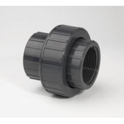 PVC Union Plain to Female Threaded Metric to Imperial Fitting