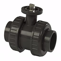 Excel Ball Valve ISO Top - Double Union - Teflon Filled PE Seat - EPDM Seals - Plain Ends