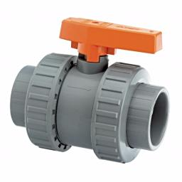 ABS Industrial Ball Valve - Double Union - Inch / Imperial EPDM Seals