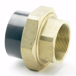 PVC-U Composite Union - Female Brass Threaded to Plain Imperial / Inch- All sizes