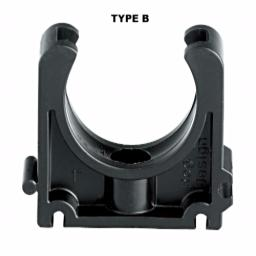 Industrial Pipe Clip - Black Imperial