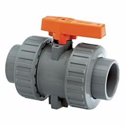 ABS Industrial Ball Valve - Double Union - Inch / Imperial FPM Seals
