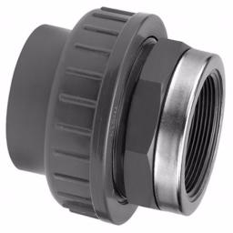 PVC-U Union Reinforced Plain to Threaded Imperial / Inch- All sizes
