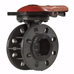Standard Butterfly Valve - PVC Body & PVC Disk - SS Shaft - EPDM Linear