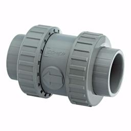 ABS Standard Spring Check Non Return Valve - Double Union- EPDM Seals Inch / Imperial