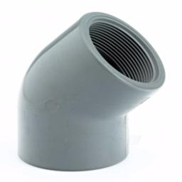 ABS 45 Degree Elbow Plain / Threaded