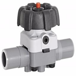 ABS Industrial Diaphragm Valve - PTFE/EPDM Diaphragm - Inch / Imperial