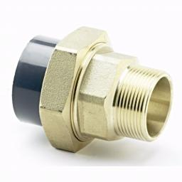 PVC-U Composite Union - Male Brass Threaded to Plain Imperial / Inch- All sizes