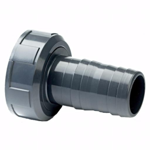 PVC-U Hose Adaptor - Female BSP x MM Hose Tail Plain/Threaded Imperial / Inch- All sizes