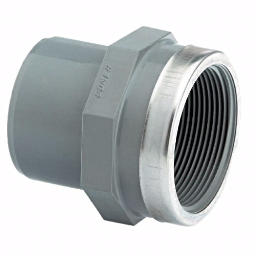 ABS Adaptor SS Reinforced Male Plain / Female Threaded