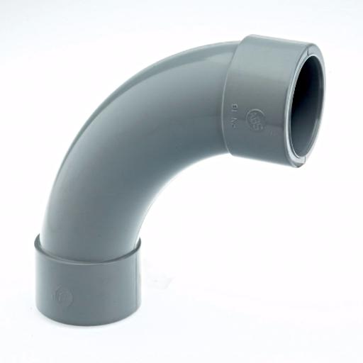 ABS 90 Degree Short Radius Bend Plain - Imperial