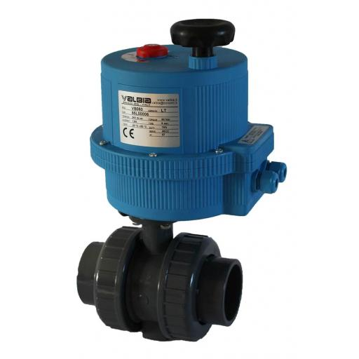 ABS Electrically Actuated Ball Valve - 110-240V - FPM Seals