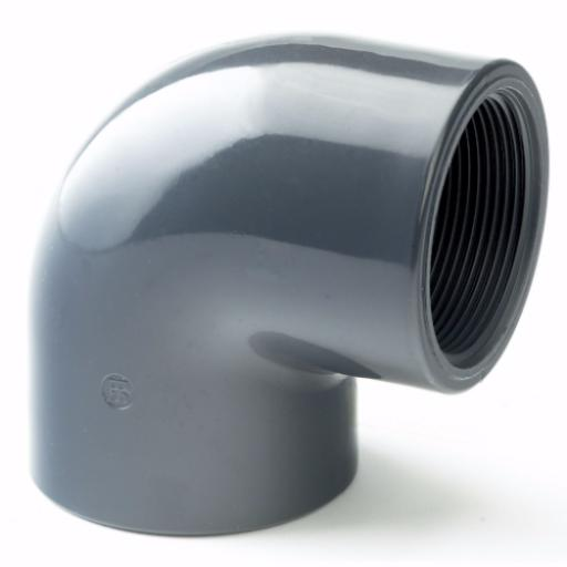 PVC-U 90 Degree Elbow Threaded Imperial / Inch- All sizes