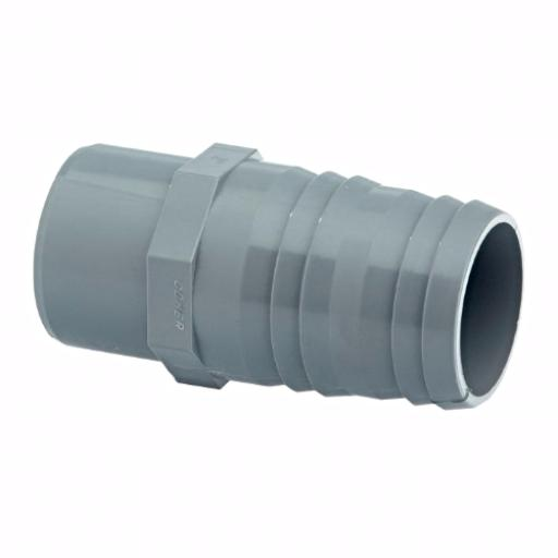 ABS Hose Adaptor Plain - Male Spigot inch x MM Hose Tail