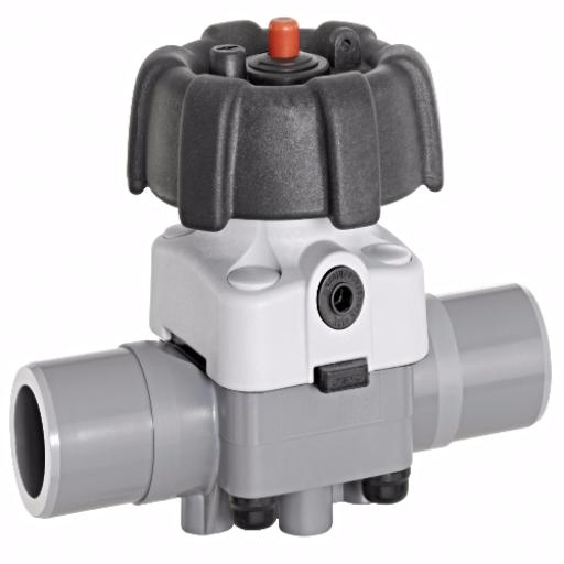 ABS Industrial Diaphragm Valve - EPDM Diaphragm - Inch / Imperial