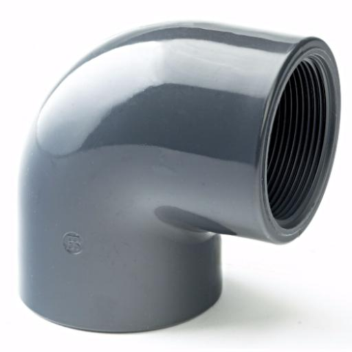 PVC-U 90 Degree Elbow Plain/Threaded Imperial / Inch