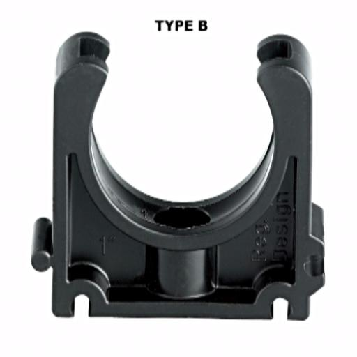 Industrial Pipe Clip - Black