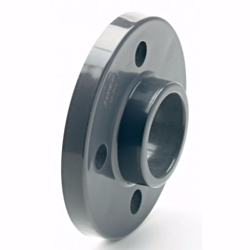 PVC-U Full Face Flange - BS10 Tables D & E Plain Imperial / Inch- All sizes
