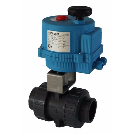 ABS Electrically Actuated Ball Valve - 110-240V - EPDM Seals