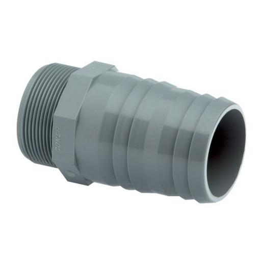 ABS Hose Adaptor Male BSP x Inch Hose Tail - Plain / Threaded