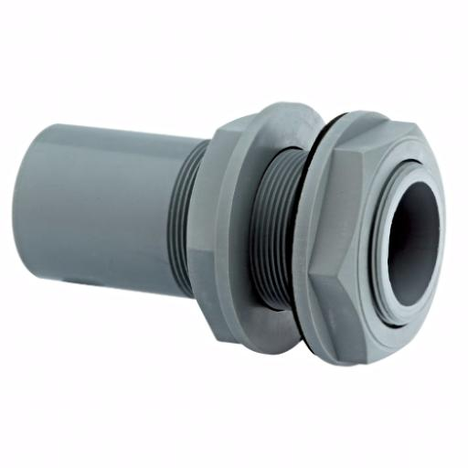 ABS Tank Connector Plain / Threaded - Inch Imperial
