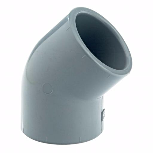 ABS 45 Degree Elbow Plain - Imperial
