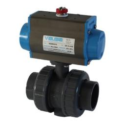 Pneumatically Actuated Ball Valve - Spring Return Actuator - EPDM Seals - Plain Ends - Safe Open