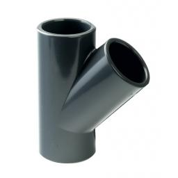 PVC Plain Tee 45 Degree Metric