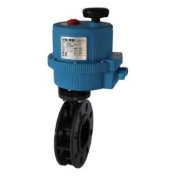 Electrically Actuated Butterfly Valve - PVC Body & Disc -SS Shaft - EPDM Liner -24V AC/DC