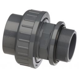 PVC Union - With O Ring - Plain/Threaded BSP Metric - All sizes