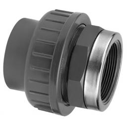 PVC Union - Reinforced Plain to Threaded BSP Metric - All sizes