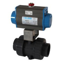 Pneumatically Actuated ISO Top Ball Valve - Spring Return Actuator - FPM Seals - P/E - Safe Open