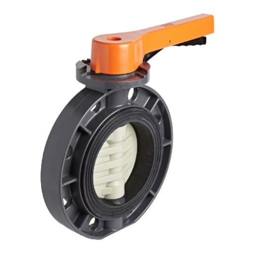 Standard Butterfly Valve - PVC Body & Disc - SS Shaft - EPDM Liner