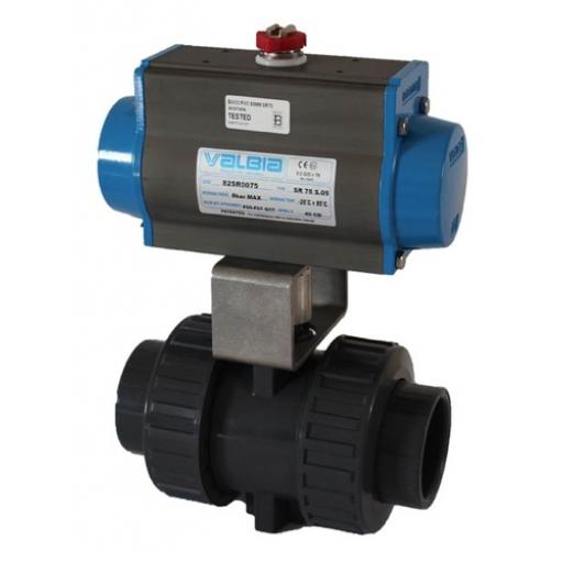 Pneumatically Actuated ISO Top Ball Valve - Double Acting Actuator - EPDM Seals - Plain Ends