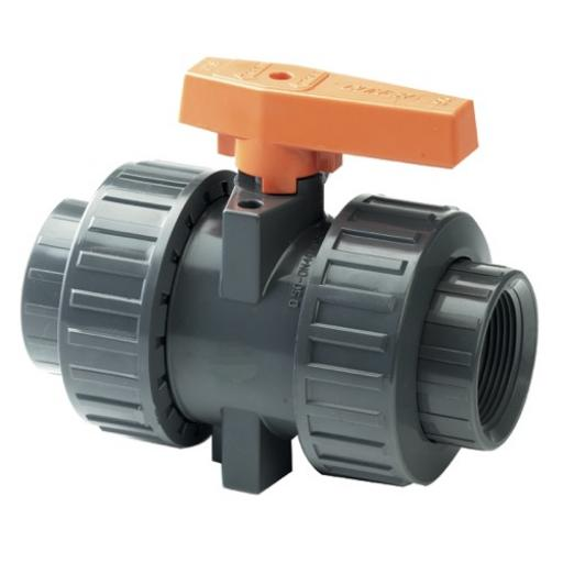 Industrial Ball Valve - Double Union - PTFE Seat - EPDM Seals - Plain Ends