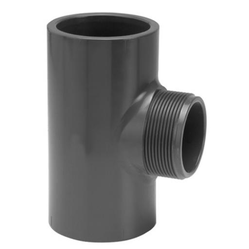 PVC Tee - External Thread On Branch - Plain to Threaded BSP Metric - All sizes