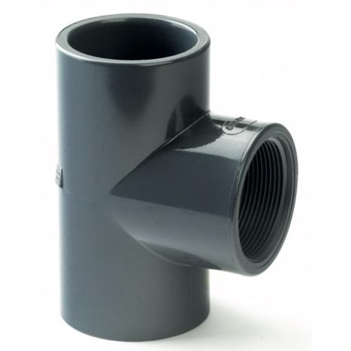 PVC Equal Tee - Plain / Threaded BSP Metric - All sizes