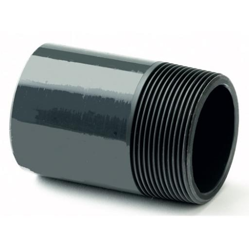 PVC Nipple - Plain to Threaded BSP Metric - All sizes