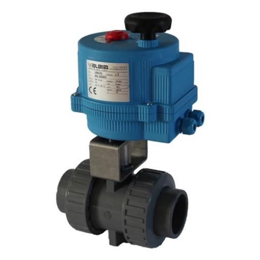 Electrically Actuated ISO Top Ball Valve - FPM Seals - Plain Ends - 24V AC/DC