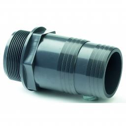PVC Hose Adaptor - Male BSP X MM Hose Tail - Plain/Threaded BSP Metric - All sizes