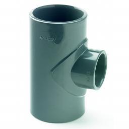 PVC Plain Reducer Tee Metric