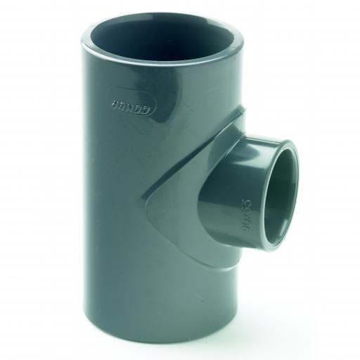 PVC Plain Reducer Tee Metric
