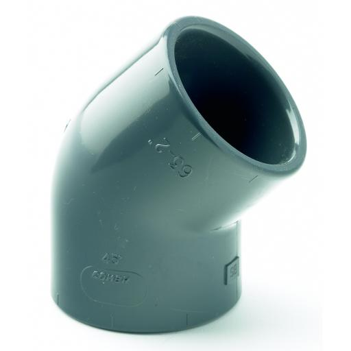 PVC Plain Elbow 45 Degree Metric